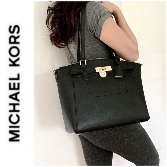 Michael Kors Handbags - NWT authentic MK leather large Hamilton satchel